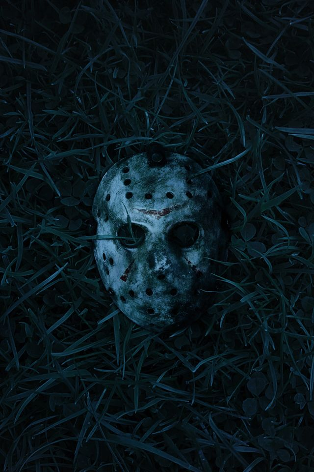 Jason Mask Iphone Wallpaper Halloween Scary Creative