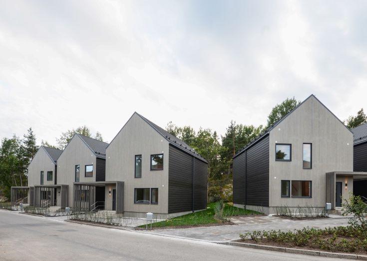 V rvetet kedjehus i hags tra stockholm arkitekt sweco for Arkitekt design home