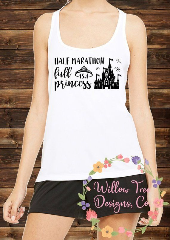7580bc17 Half Marathon Full Princess   RunDisney Princess 5k 10k 13.1 Half Marathon  Race Shirt   Women's Dry