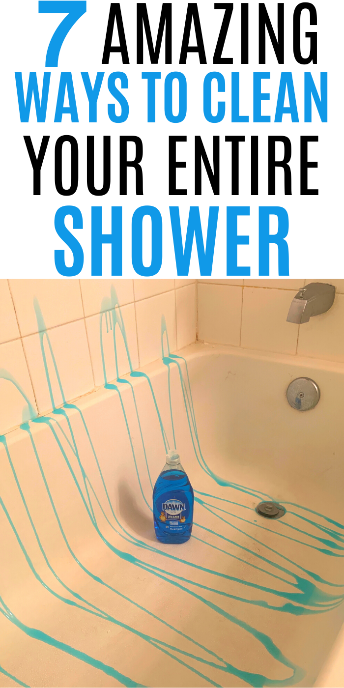 7 AMAZING WAYS TO CLEAN YOUR ENTIRE SHOWER