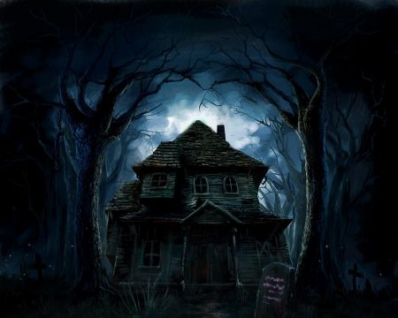 House In The Middle Of The Forest Desktop Nexus Wallpapers Goth Wallpaper Haunted Pictures Tree House Wallpaper