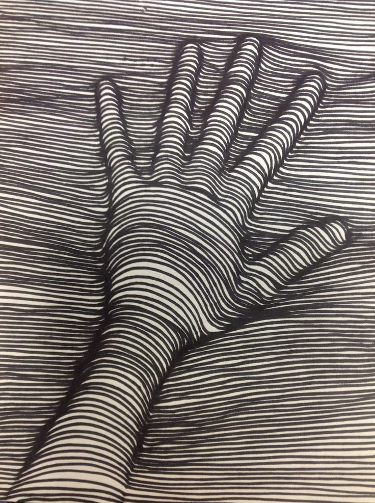 Contour Line Drawing Zone : D hand drawing art zone pinterest drawn