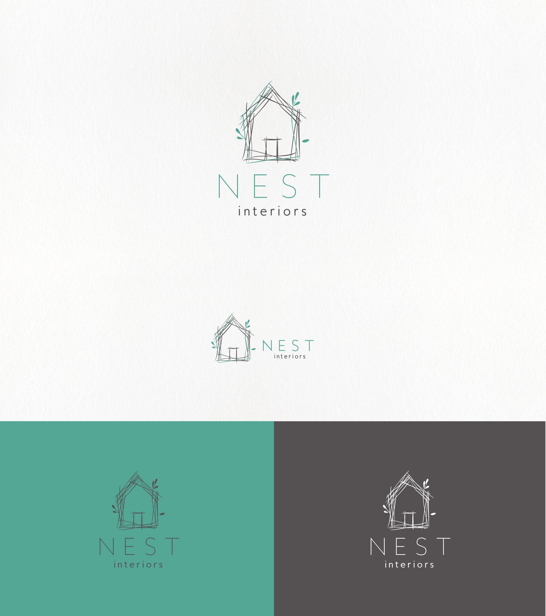Handdrawn minimal logo for an interior design company for Interior decor names