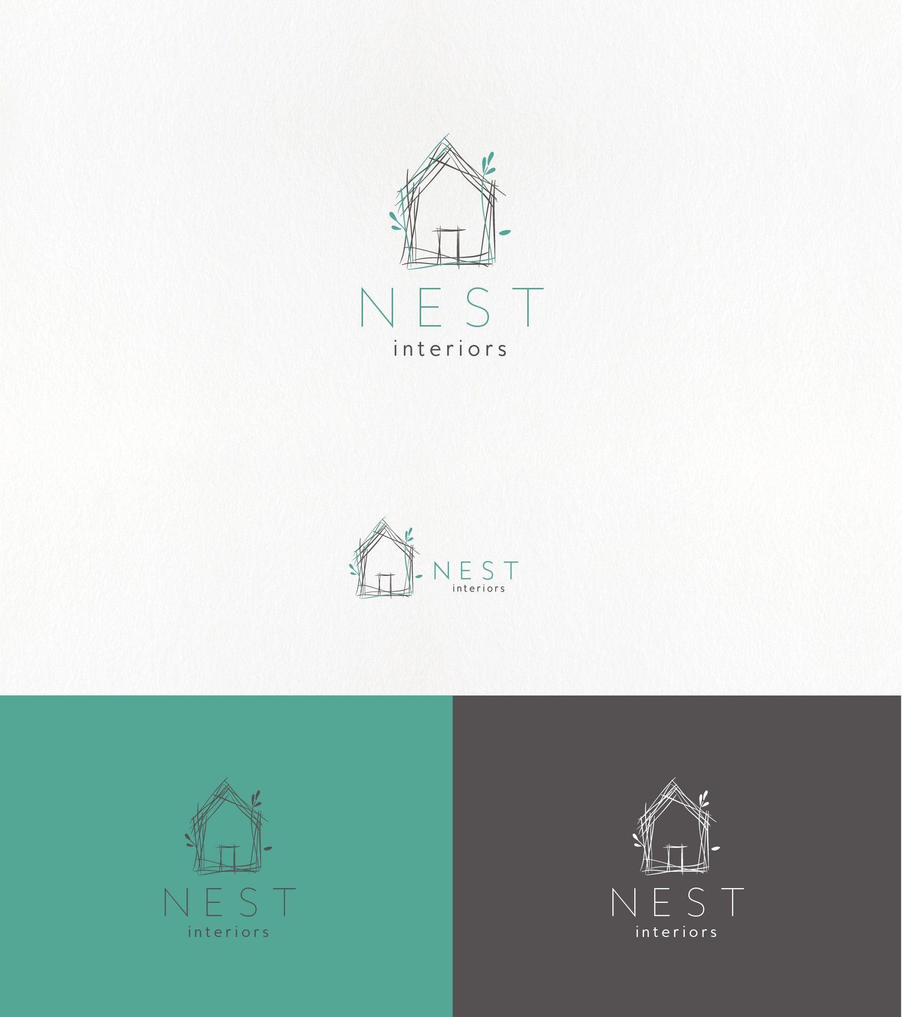 Handdrawn minimal logo for an interior design company designs also rh co pinterest