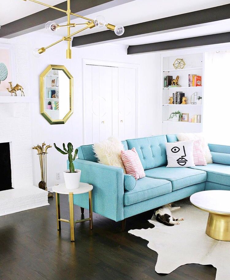 Astounding Robins Egg Blue Couch And Living Room Goodness In 2019 Evergreenethics Interior Chair Design Evergreenethicsorg