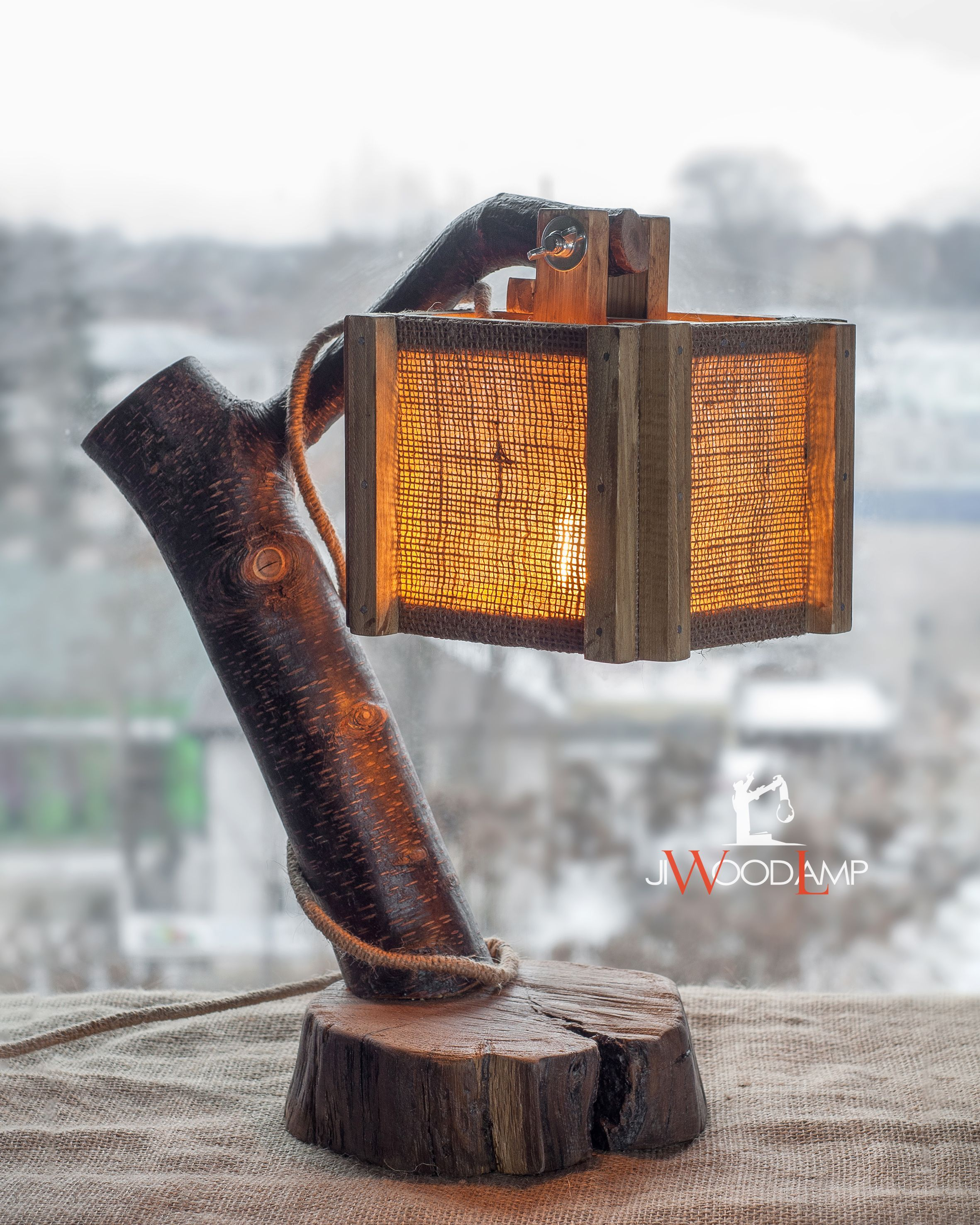 Finding The Best Lamp For Your Home Can Be Tough Because There Is Such A Huge Selection Of Lamps You Could Choose Wood Lamps Burlap Lampshade Table Lamp Wood
