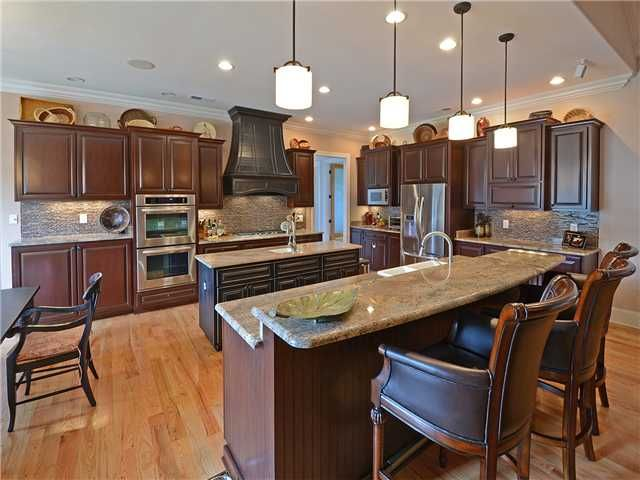 kitchen with two islands wrong color scheme but shows two islands with open concept kitchen on kitchen remodel with island open concept id=23400