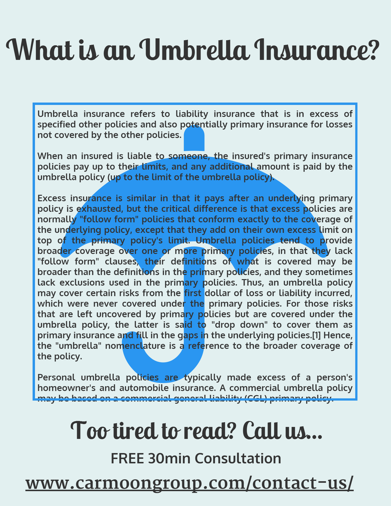 Contact Us Umbrella Insurance Personal Insurance Business