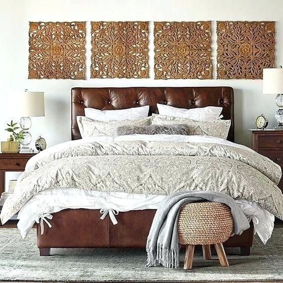 Masculine Headboards A Brown Leather Bed With A Diamond