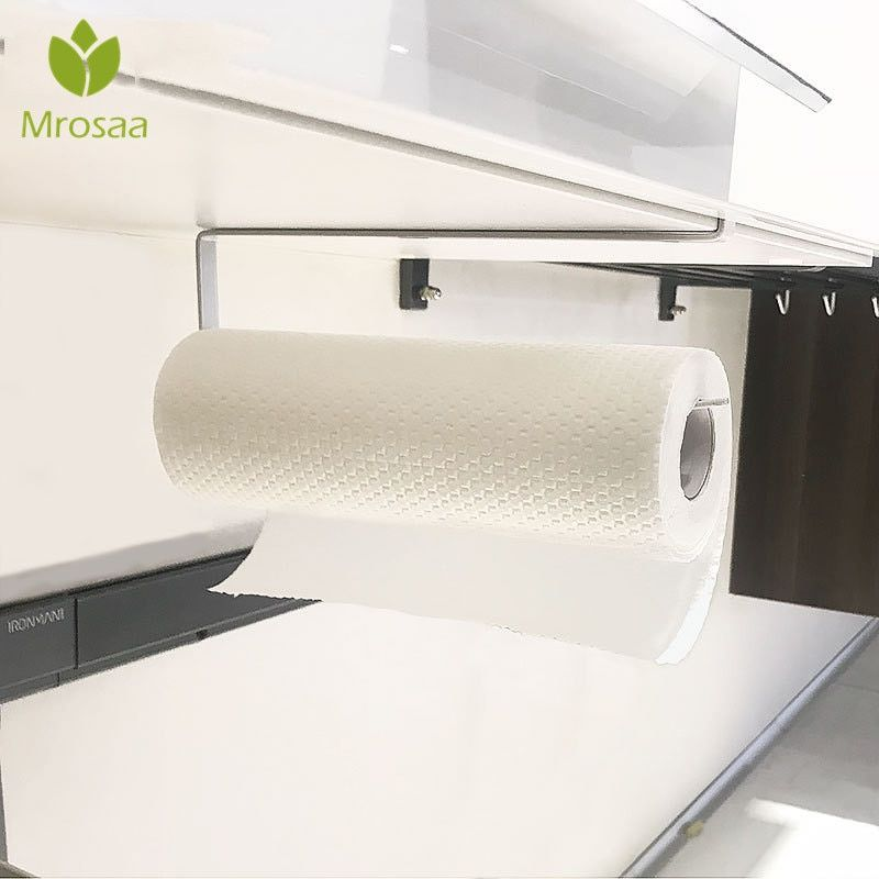 New Creative Tissue Towel Rack Kitchen Paper Holder Hanging Bathroom Toilet Roll Paper Towel Holder Kitchen Cabinet Storage Rack Paper Towel Holder Kitchen Paper Towel Holder Towel Rack