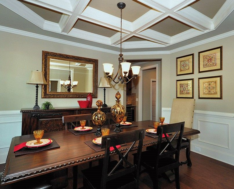 Formal Dining Room In Nolensville Tennesseebeautiful Entrancing Coffered Ceiling Dining Room Decorating Design