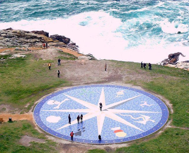 Rosa dos ventos da Coruña.