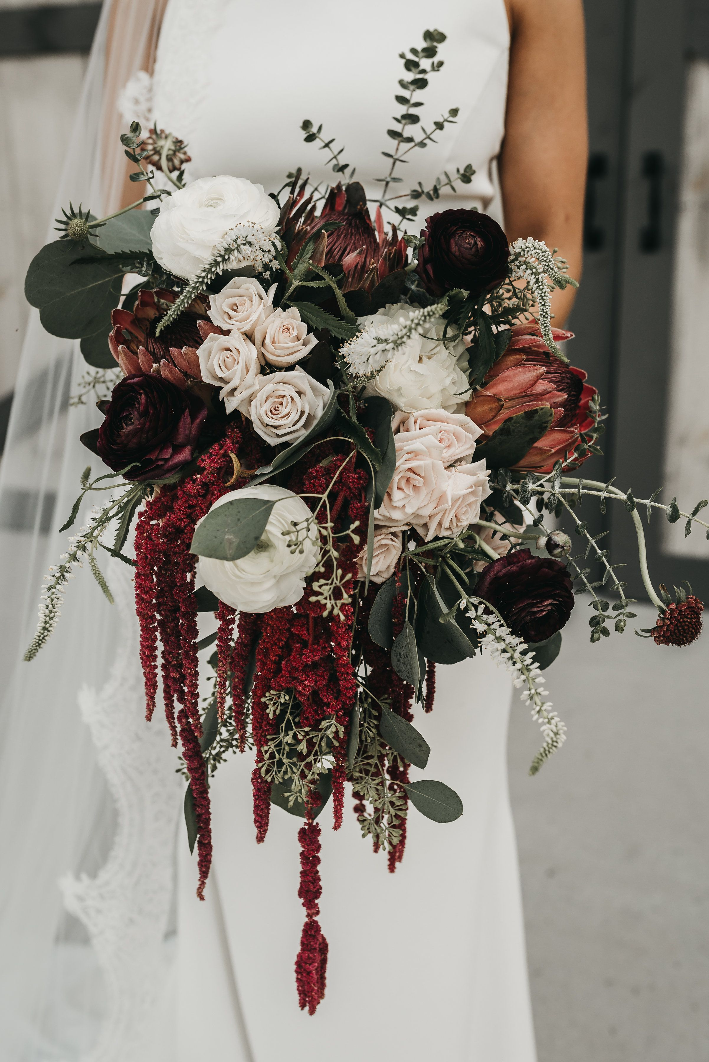 Fall Outdoor Wedding at Howe Farms Bridal bouquet fall