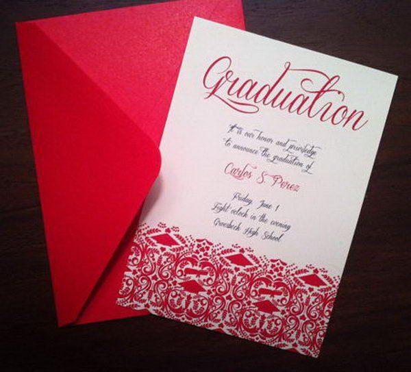 red envelope graduation announcement this fancy graduation