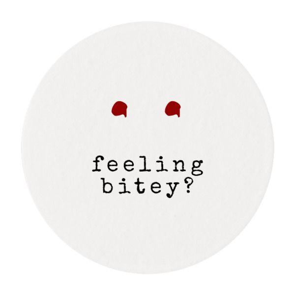 Feeling Bitey Funny Vampire Bite Edible Frosting Rounds Halloween