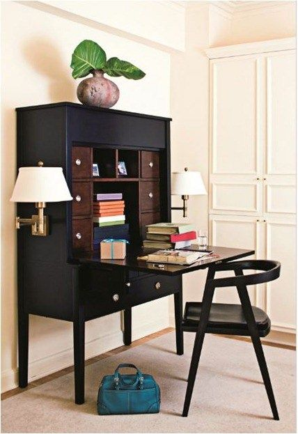 elle decor hall secretary | Living Room | Pinterest | Small spaces ...