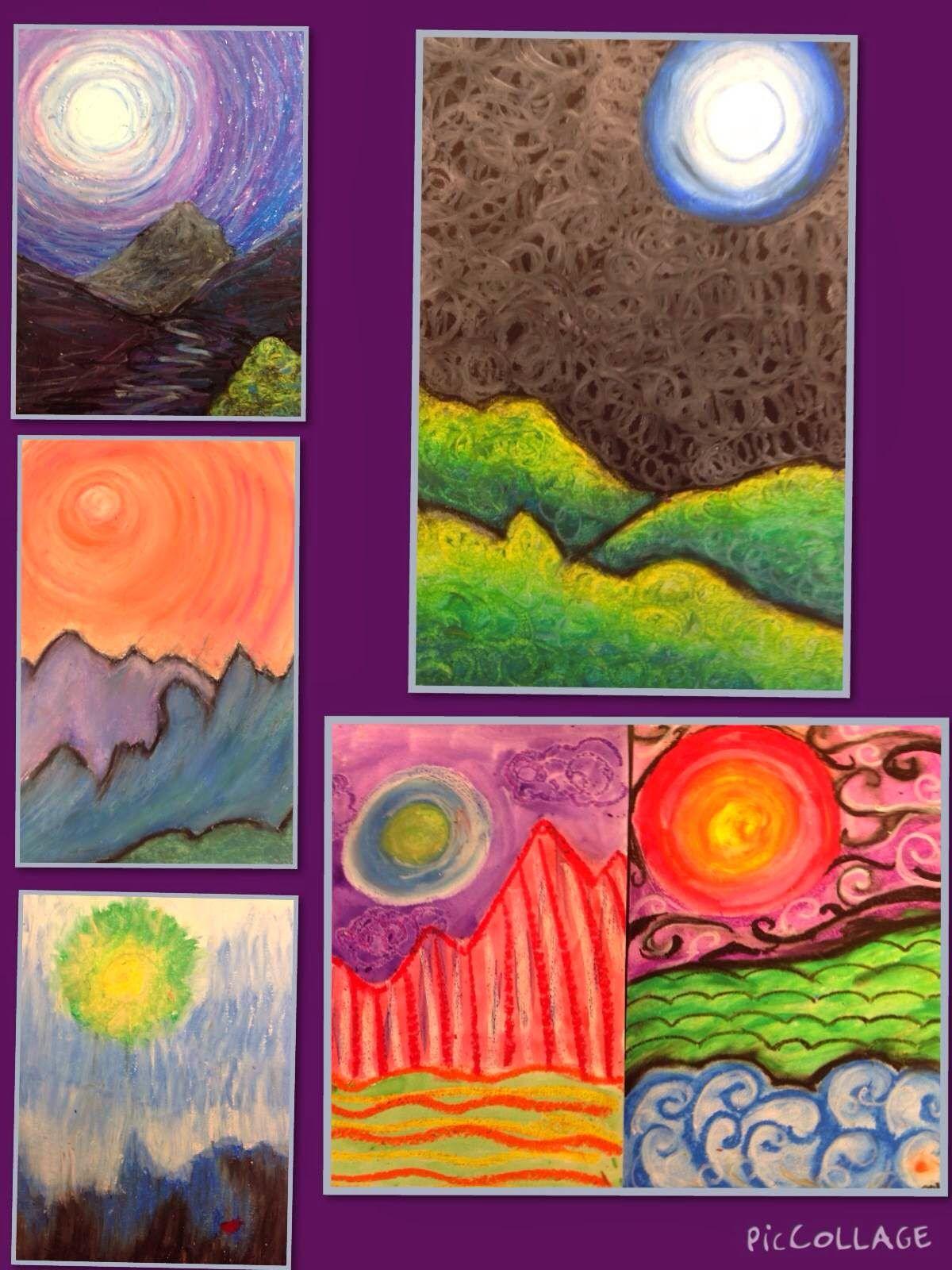 Kandinsky Inspired Teacher Created Landscape