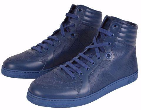 13a4e43a03a NEW Gucci 355645 Blue Diamante High Top Sneaker Trainers Shoes 11.5 G 12.5  U.S
