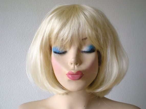 Color: Blonde Style: Short Straight Hair With Bangs Part