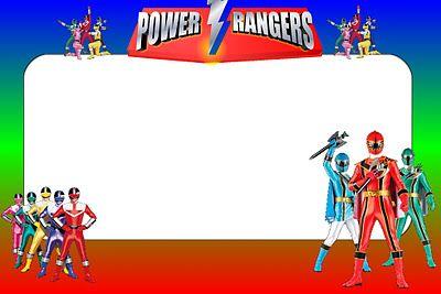 Imprimibles De Power Rangers Fiesta Temática De Power