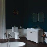 Vrijstaand wastafelmeubel met geïntegreerde lavabo