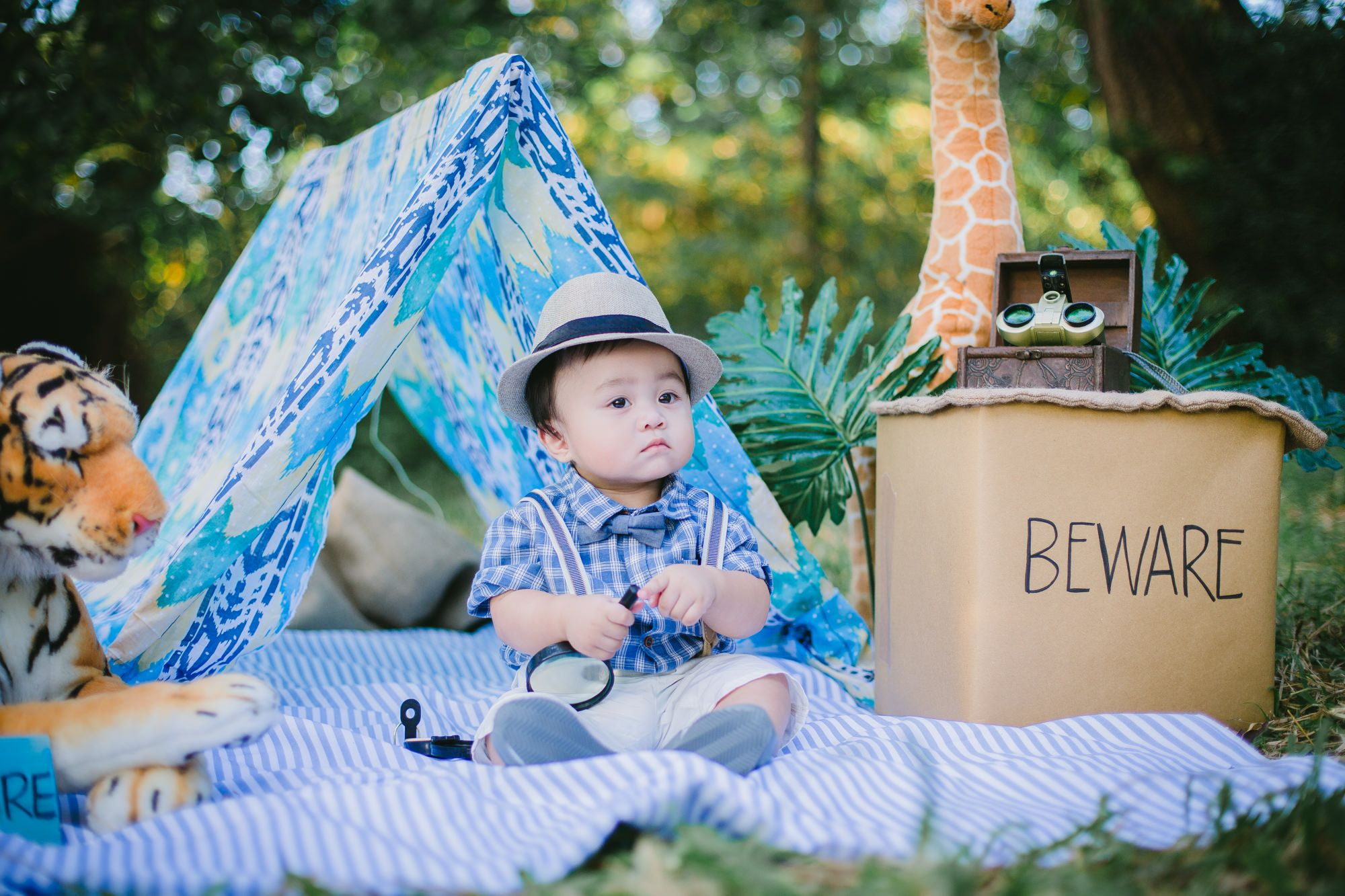 Safari Themed Baby Photoshoot