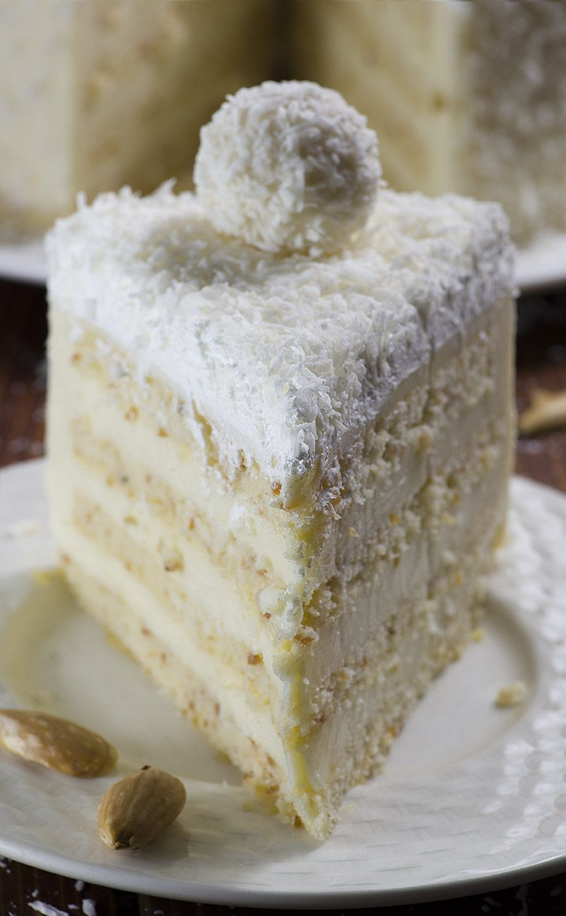 Almond Coconut Cake   Recipe   Almond coconut cake, White chocolate ...