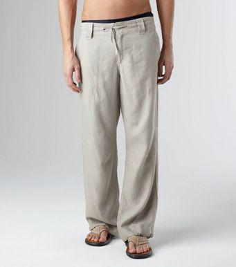 Foto Pantalon Lino Hombre Foto 182462 Pantalones De Lino Hombre Pantalones De Lino Pantalones