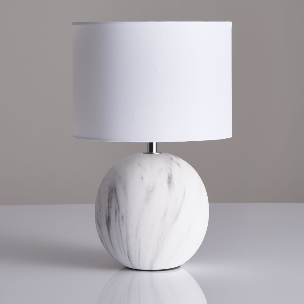 Small Marble Effect Lamp Small Bedside Lamps White Bedside Lamps Bedside Table Lamps