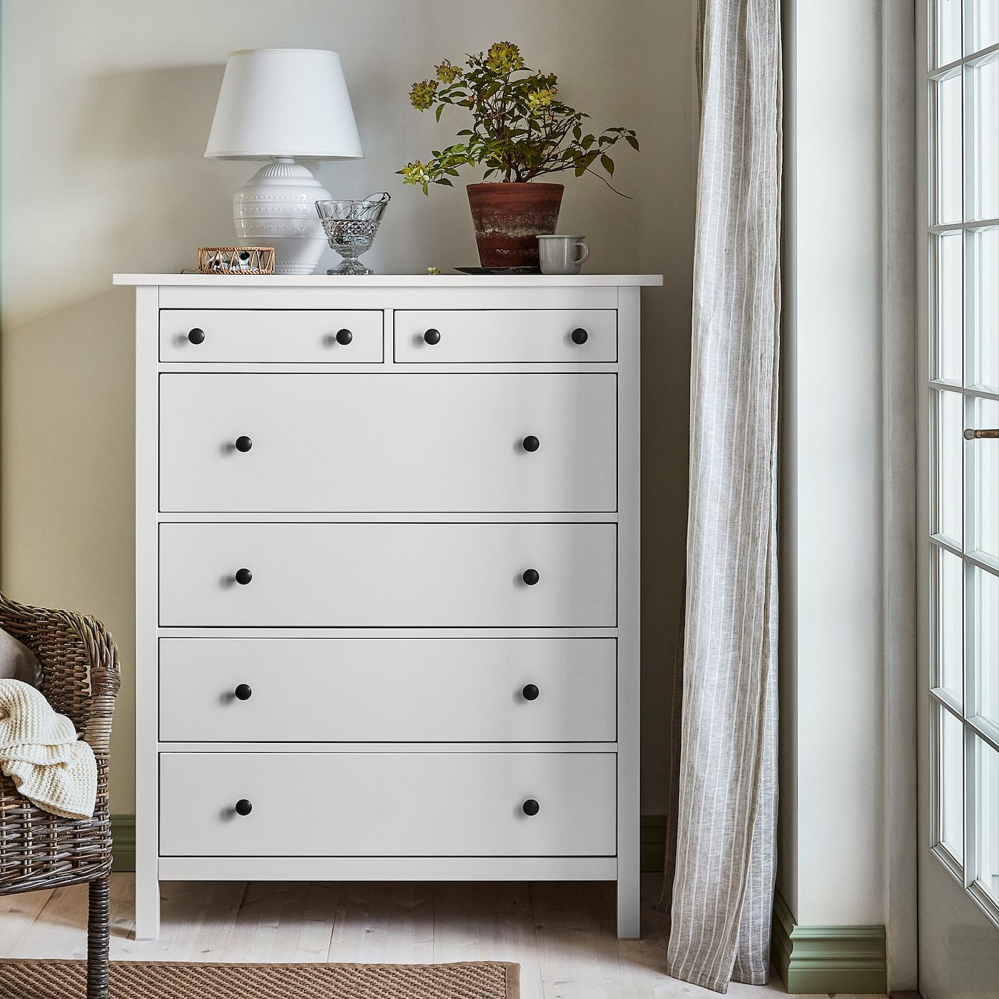 Hemnes 6 Drawer Chest White 42 1 2x51 5 8 Bedroom Chest Of