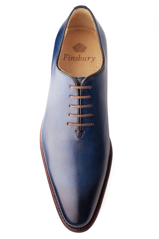 e73fcf08743b2a Richelieu Giulia Bleu Patiné pour Homme - Finsbury Shoes ...