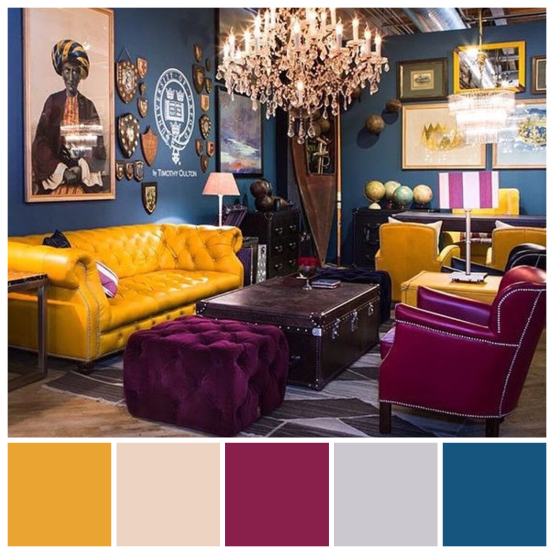 Warm Bedroom Color Schemes: Classic Triadic Colour Scheme Of Red, Yellow And Blue