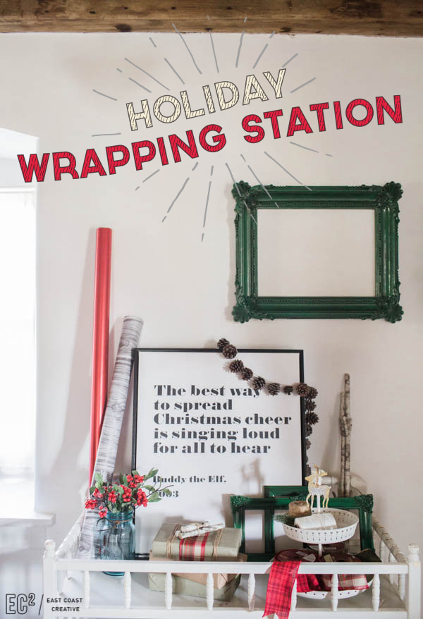 Christmas Gift Wrapping Station.Create A Holiday Wrapping Station Getting Crafty Diy