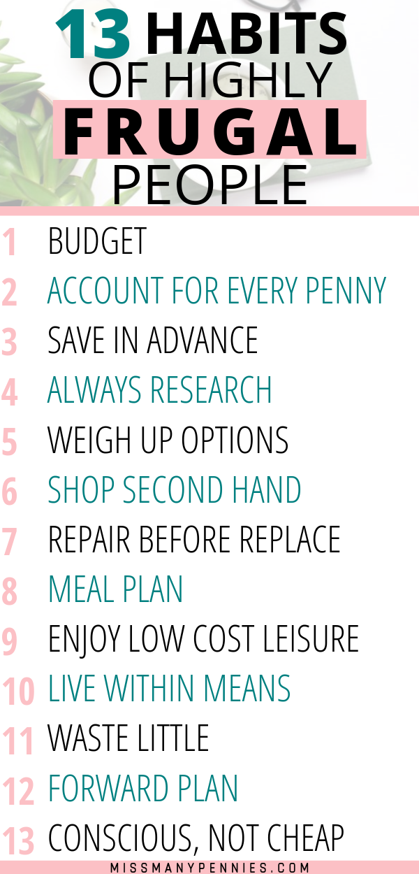 13 Simple Money Saving Habits of Highly Frugal People