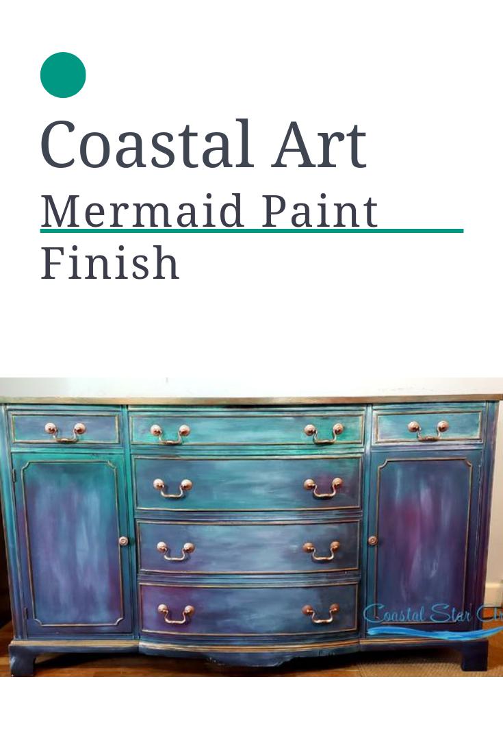 Mermaid Paint Finish Mermaid Painting Antique Furniture Living