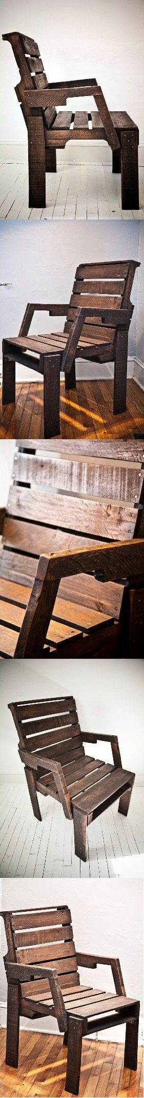 Pallet Captain's Chair #oldpalletsforcrafting