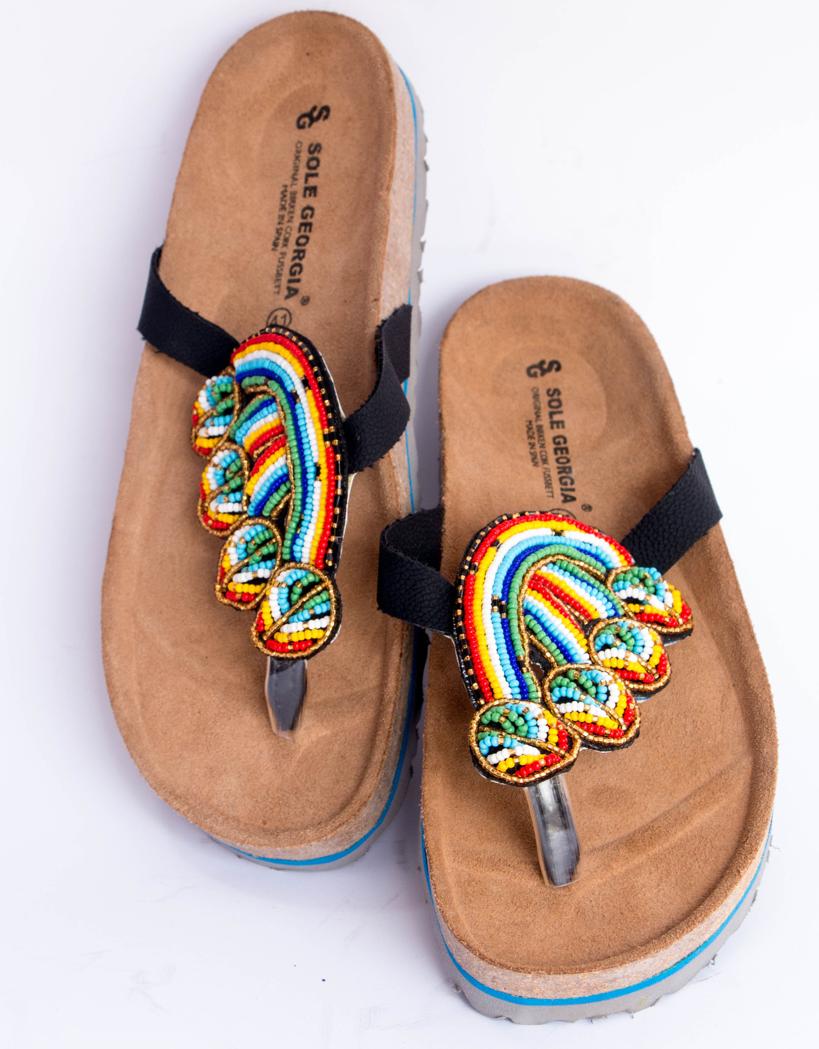 92e59a79cde4 Mekay beaded birkenstock slipper. Design - Tooth Comb  pamperyourfeet   madeingh  ABL  ENT