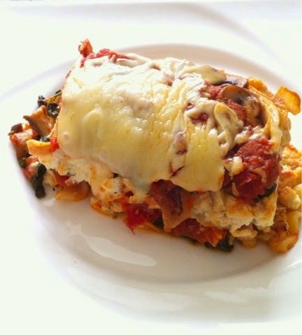 Chaos and the Kitchen: Lightened Up Chicken, Mushroom and Spinach Lasagna