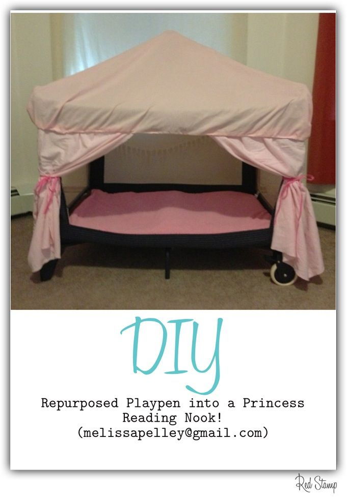 Repurposed Playpen Turned Into A Princess Reading Nook