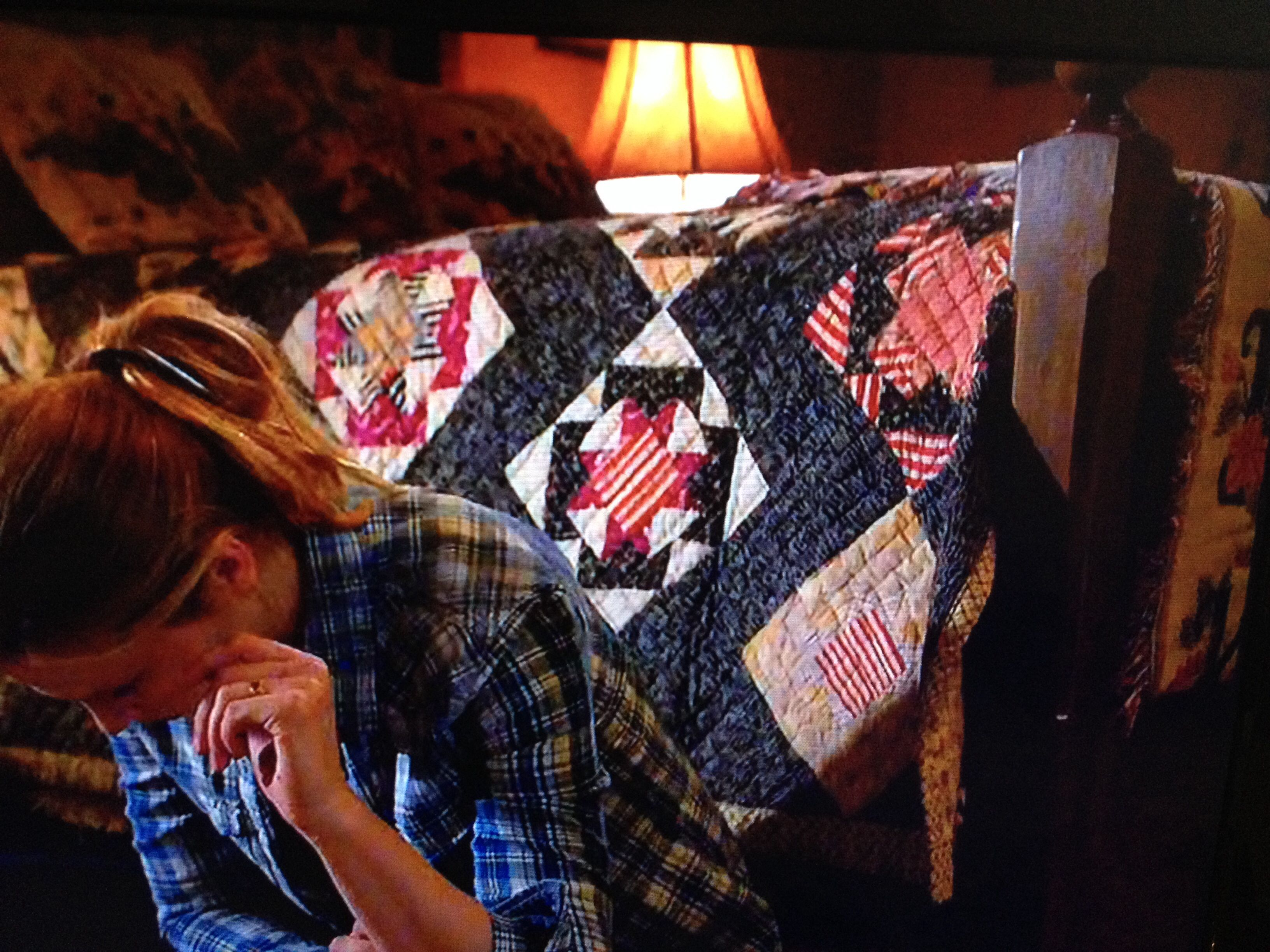 You might be a quilter when you take photos of quilts in the background of TV shows!