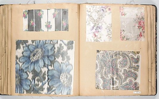 Textile Sample Book  Date:early 20th centuryCulture:French