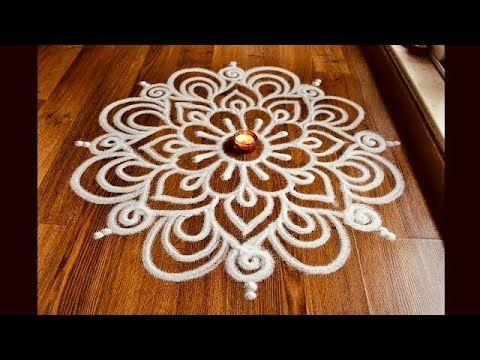 Simple and attractive free hand rangoli designs | Rangoli designs with funnel by Shital Daga