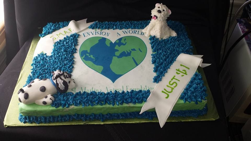 Birthday Cakes For Dogs In Los Angeles ~ Dog themed cake for a charity event los angeles ca cakes