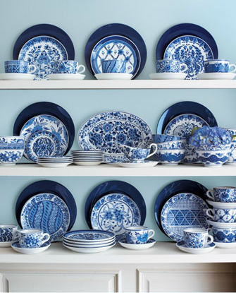 Blue Plates for Kitchen