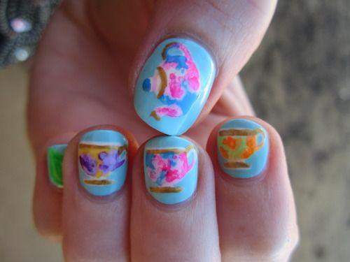 Reneesnails Tea Cup Nails More Original Nail Art Nailin It