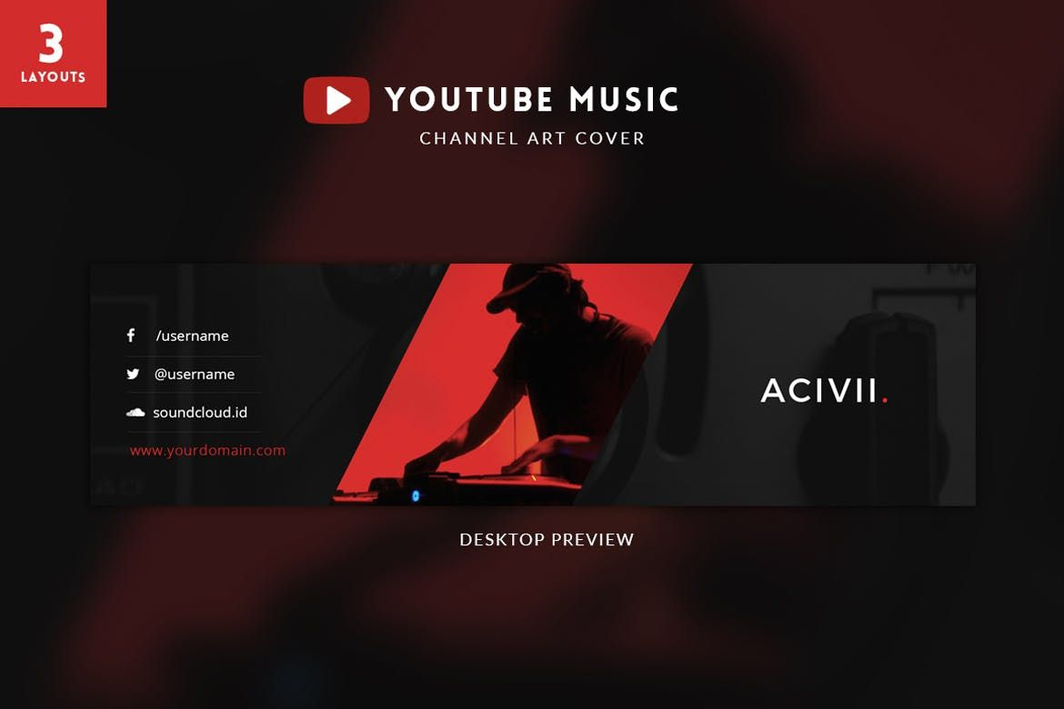 Youtube Music Channel Art By Micromove On Envato Elements Youtube Channel Art Channel Art Youtube Banner Template