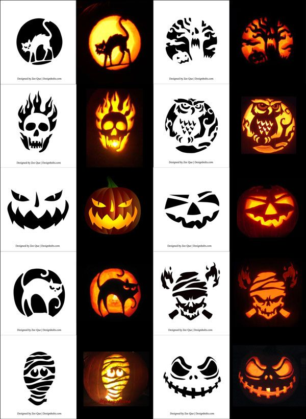 Free Printable Scary Pumpkin Carving Stencils Patterns