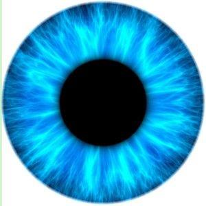 Not Contact Lens Ice Eye Iris Dilated Pupil Light Dark Blue Black