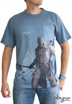 ASSASSIN'S CREED T-shirt Assassin's Creed Connor debout stone blue