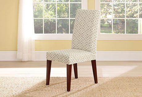 Sure Fit Slipcovers Stretch Ironworks Short Dining Chair Covers Cover